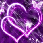Hearts Purple Butterfly │ 【LWP】キラキラかわいい女子用ライブ壁紙